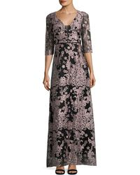 JS Collections - Lace Metallic Gown - Lyst