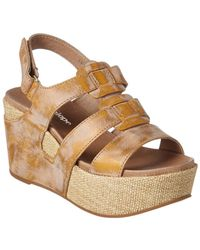 Antelope - 876 Leather Wedge Sandal - Lyst