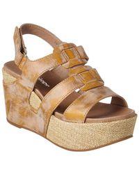 Antelope 876 Leather Wedge Sandal - Metallic