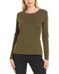 Lafayette 148 New York Basic T-shirt - Green