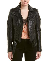 The Kooples - Leather Moto Jacket - Lyst