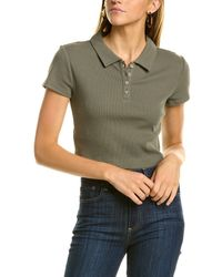 BCBGeneration Cropped Polo Shirt - Green