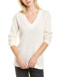 Bobi V-neck Sweater - White