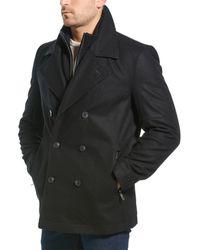 Marc New York Emmett Wool-blend Peacoat - Black