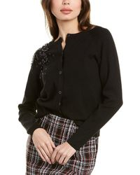 Gracia Sequin Cardigan - Black