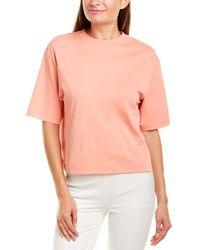Vince Wide Sleeve Crop T-shirt - Pink