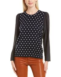 Rebecca Taylor Dotted Pullover - Blue