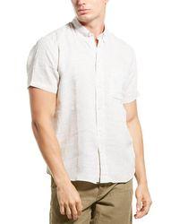 Billy Reid Tuscumbia Regular Fit Linen Shirt - Natural