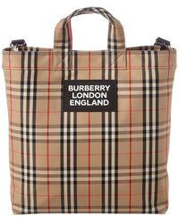 Burberry Vintage Check Tote Bag - Natural