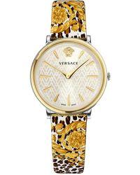 Versace V-circle Watch - Metallic