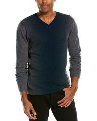 Autumn Cashmere Ombre Cashmere V-neck Sweater - Green