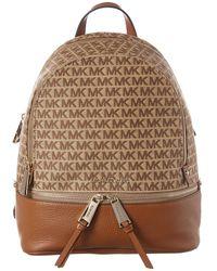 Michael Kors Michael Rhea Jacquard Signature Backpack - Brown