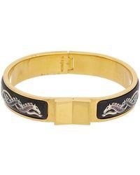 Hermès - Printed Enamel Narrow Loquet Bracelet - Lyst
