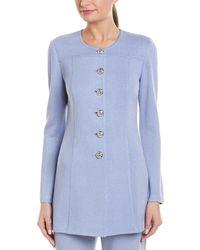 St. John Wool-blend Topper - Blue