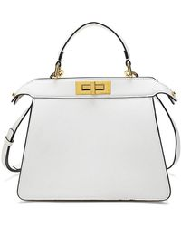 Tiffany & Fred Smooth Nappa Leather Satchel - White