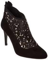 L.K.Bennett Vicky Haircalf & Suede Bootie - Black