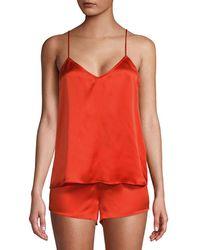 Equipment Alexy 2pc Silk Pyjama Set - Red