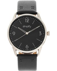 Simplify Unisex The 6300 Watch - Black