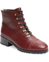 F-Troupe Sylvia Leather Lace-up Boot - Multicolor