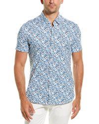 Stone Rose Button-down Shirt - Blue