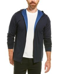 James Perse Double Layer Hoodie - Blue