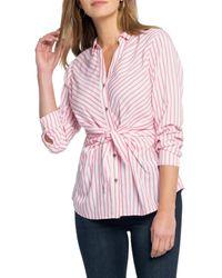 NIC+ZOE Sail Tie Blouse - Pink