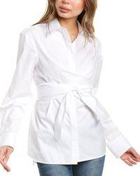 Helmut Lang Poplin Wrap Shirt - White