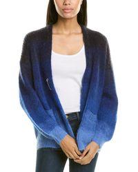 Isabel Marant Gradient Effect Mohair Cardigan - Blue