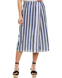 lemlem Midi Wrap Skirt - Blue