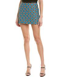 MILLY Ribbon Trim Mini Skirt - Blue