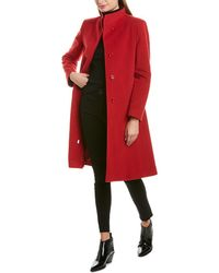 Cinzia Rocca Stand-up Collar Wool & Cashmere-blend Collar - Red