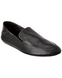 Lanvin Lambskin Leather Loafer - Black
