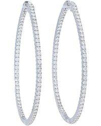 Nephora - 14k White Gold 2.59 Ct. Tw. Diamond Hoops - Lyst