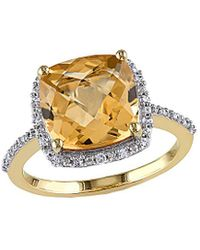 Rina Limor 10k 4.10 Ct. Tw. Diamond & Citrine Ring - Metallic