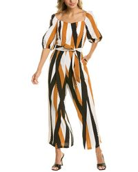 Traffic People Dandy Linen-blend Jumpsuit - Orange