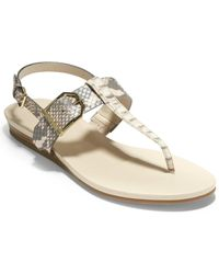 Cole Haan Leather Wedge Sandals - Multicolour