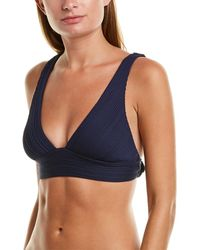 Robin Piccone Pleated Over The Shoulder Top - Blue