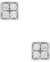 BVLGARI Bulgari 18k 0.40 Ct. Tw. Diamond Studs - Metallic