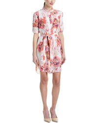 Magaschoni Silk Shirtdress - Multicolor
