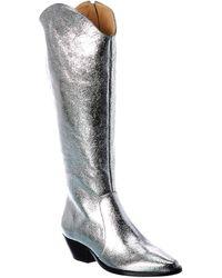 Schutz Fantinne Leather Boot - Metallic