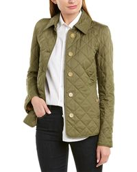 Burberry Diamond Quilted Jacket - Green