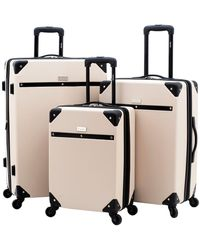 Kensie Carroll 3pc Hardside Luggage Set - Natural