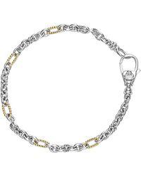 Lagos Links 18k & Silver Bracelet - Metallic