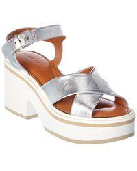 Clergerie Leather Sandal - Metallic
