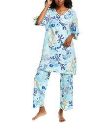 Natori - 2pc Phoenix Wrap Pajama Pant Set - Lyst