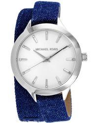 Michael Kors Women's Runway Slim Watch - Metallic