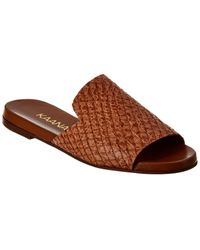Kaanas Leticia Leather Sandal - Brown