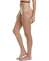 Hue Large Fish Net Tight - Black