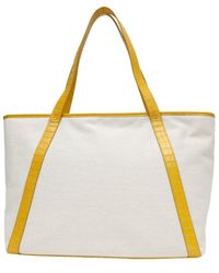 NEELY & CHLOE No. 62 Leather Travel Tote - Yellow