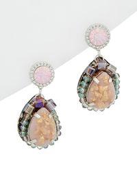 Nakamol Plated Crystal Earrings - Multicolour